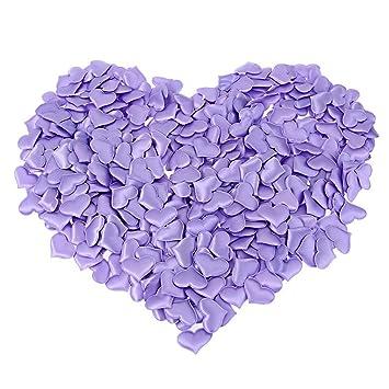 LIUYUNE,1000 unids acolchado fieltro brillo flor de algodón corazón tela apliques accesorios de boda(color:PÚRPURA): Amazon.es: Hogar