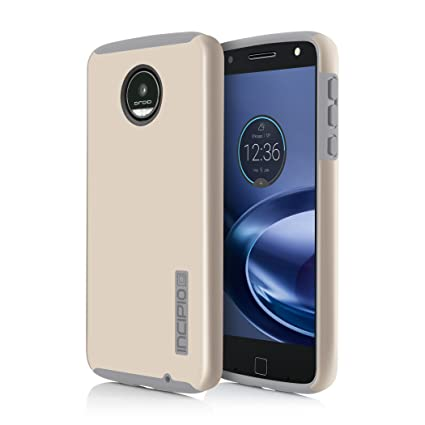 huge discount f3734 0928e Moto Z Force Case, Incipio [Hard Shell] [Dual Layer] DualPro for Moto Z  Force-Iridescent Champagne/Light Gray