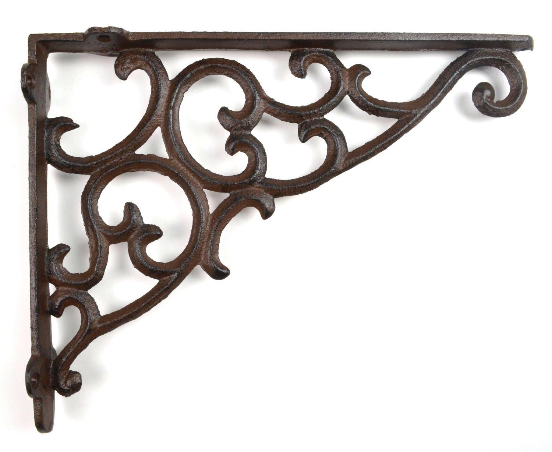 Wall Shelf Bracket - Ornate Pattern - Cast Iron - 10.875 TGL Direct