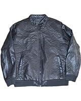 INC International Concepts Men's Black Faux Leather Jacket, US X-Large