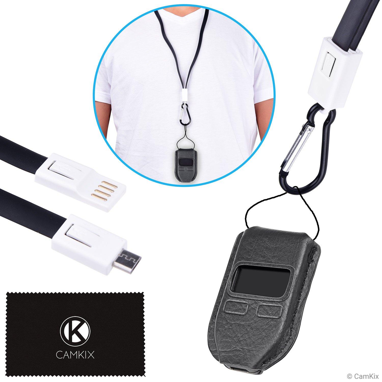 Camkix® Juego 2 en 1 para Trezor One Bitcoin/Criptomoneda Billetera – Funda Protectora a Medida – Cordon USB para Transporte, alimentación y ...