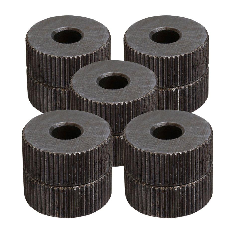 CNBTR 1mm Pitch Steel Single Straight Coarse Linear Knurling Wheel Roller for Metal Working Set of 10 yqltd