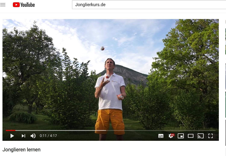 avec Tube de Rangement Pratique Parfait pour Les d/ébutants /Ø 65 mm par Balle de jonglierball Lot de 3 balles de Jongler