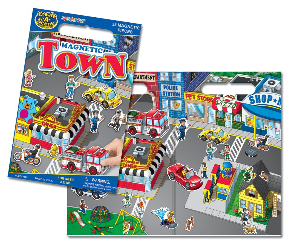 Create-A-Scene Magnetic Playset - Town