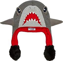 a1da5e0156b8e ABG Accessories Boys  Little Shark Squeez and Flap Fun Cold Weather Hat