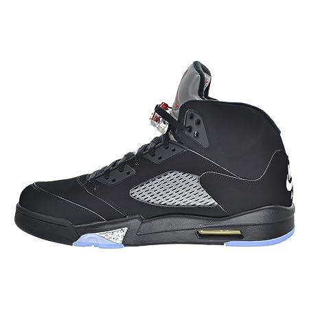 check out 6fb86 343d0 Amazon.com  Jordan Air 5 Retro OG Men s Shoes Black Fire Red Metallic Silver  White 845035-003 (11 D(M) US)  Sports   Outdoors