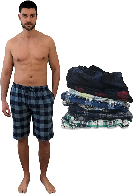 AMERICAN HEAVEN 24/7 Basics Men's 3 Pack Cotton Soft Sleep Lounge Pant Jam Cargo Shorts