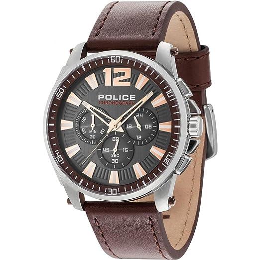 Reloj cronógrafo Hombre Police Grand Prix Casual Cod. r1471685002: Amazon.es: Relojes