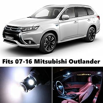8 x Premium Xenon Blanco Luces Led Interior del paquete Upgrade for 2007 - 2016 Mitsubishi Outlander: Amazon.es: Coche y moto