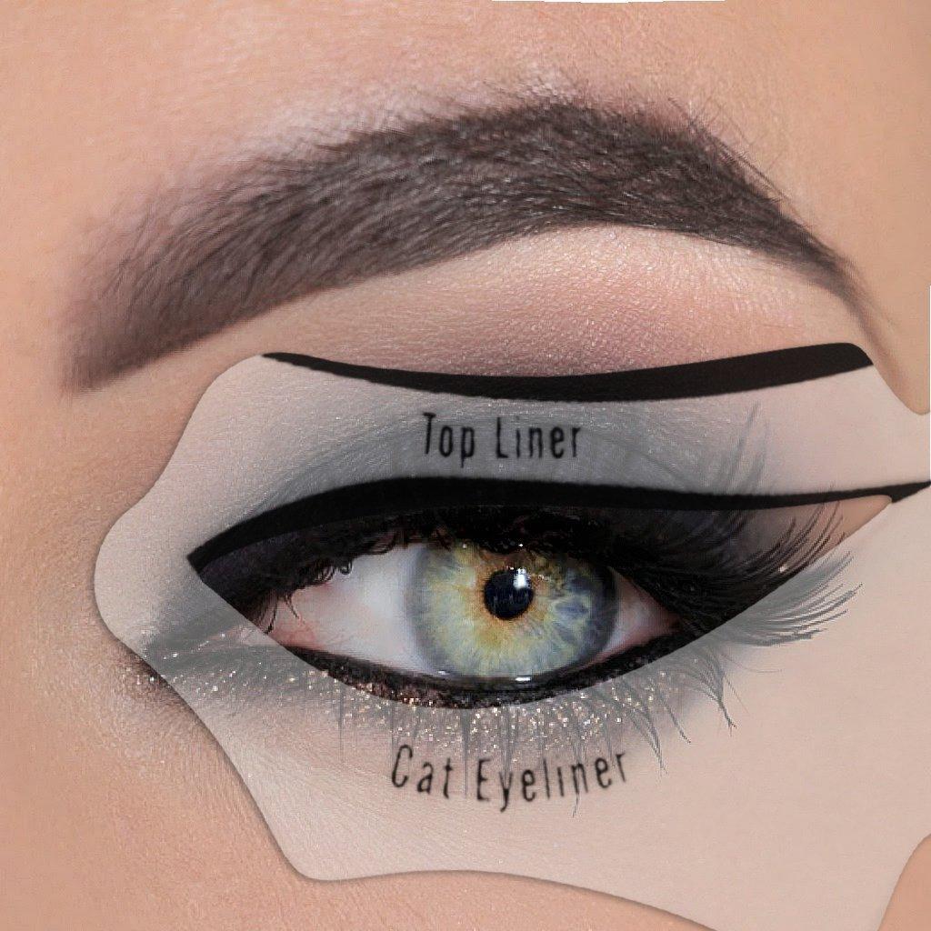 Buy Lsv 8 Smoke Cat Eye Makeup Tool Eyeliner Shadow Eay And Quick