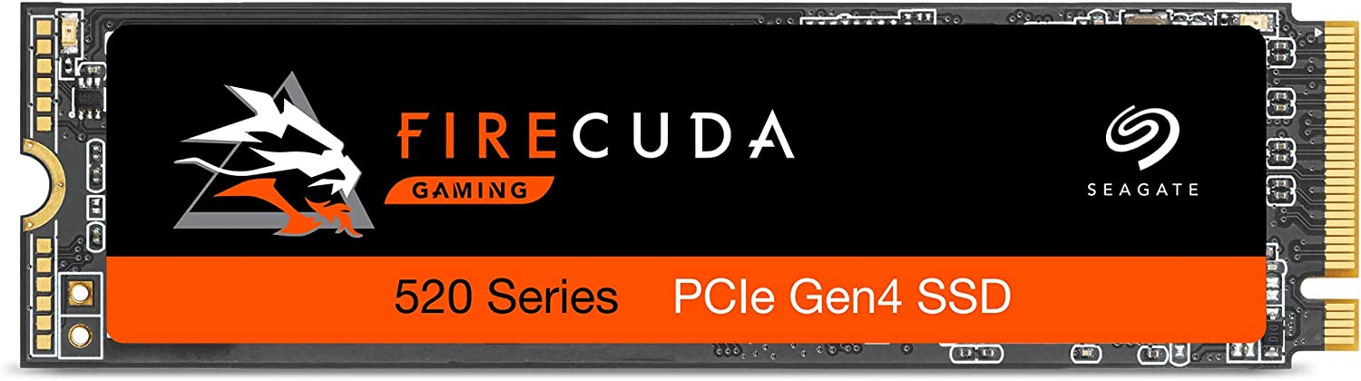 Seagate Firecuda 520 500GB Performance Internal Solid State Drive SSD PCIe Gen4 X4 NVMe 1.3 for Gaming PC Gaming Laptop Desktop (ZP500GM3A002)