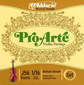 D'Addario Pro-Arte Violin String Set 1/16 Scale