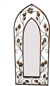 "Gothic Arch Mirror Wallart, Gothic Mirror Decor (12"" W x 28"" H),Mirro Size(5.7"" W x 20"" H)"