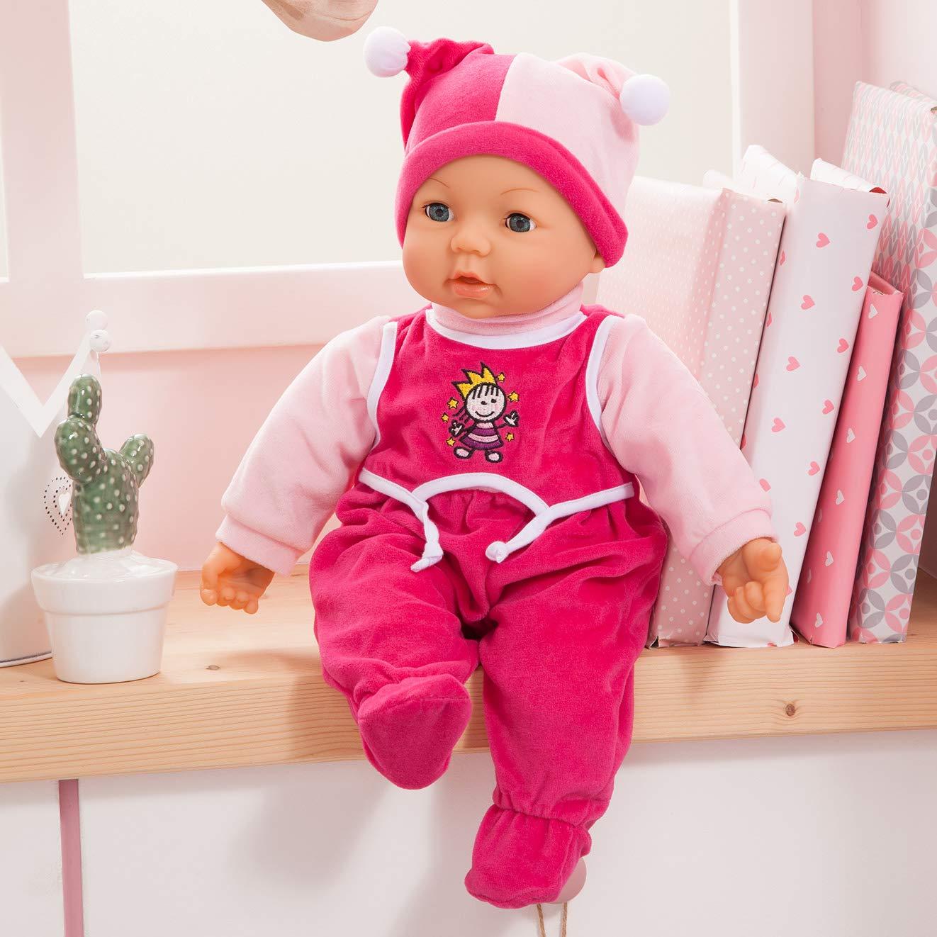 Modelli//Colori Assortiti Bayer Design 94682 Bambola 46 cm Hello Baby con funzioni particolarmente graziosa 1 Pezzo