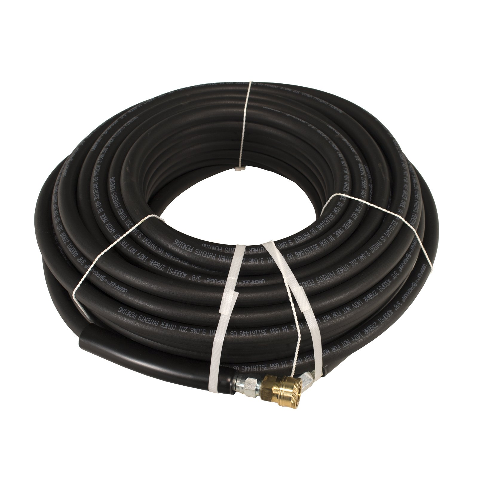 Schieffer Co. Propulse 4000 PSI 3/8'' x 100' Uberflex Non Marking Pressure Washer Hose with Couplers by Schieffer Co.