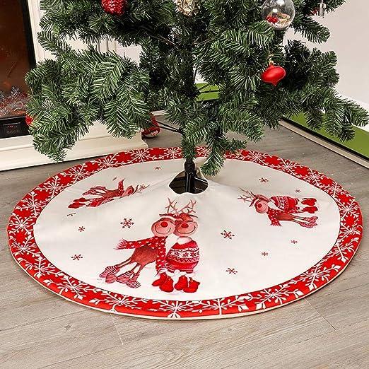Falda del Árbol De Navidad Grande del Blanco Nevado Árbol De La ...