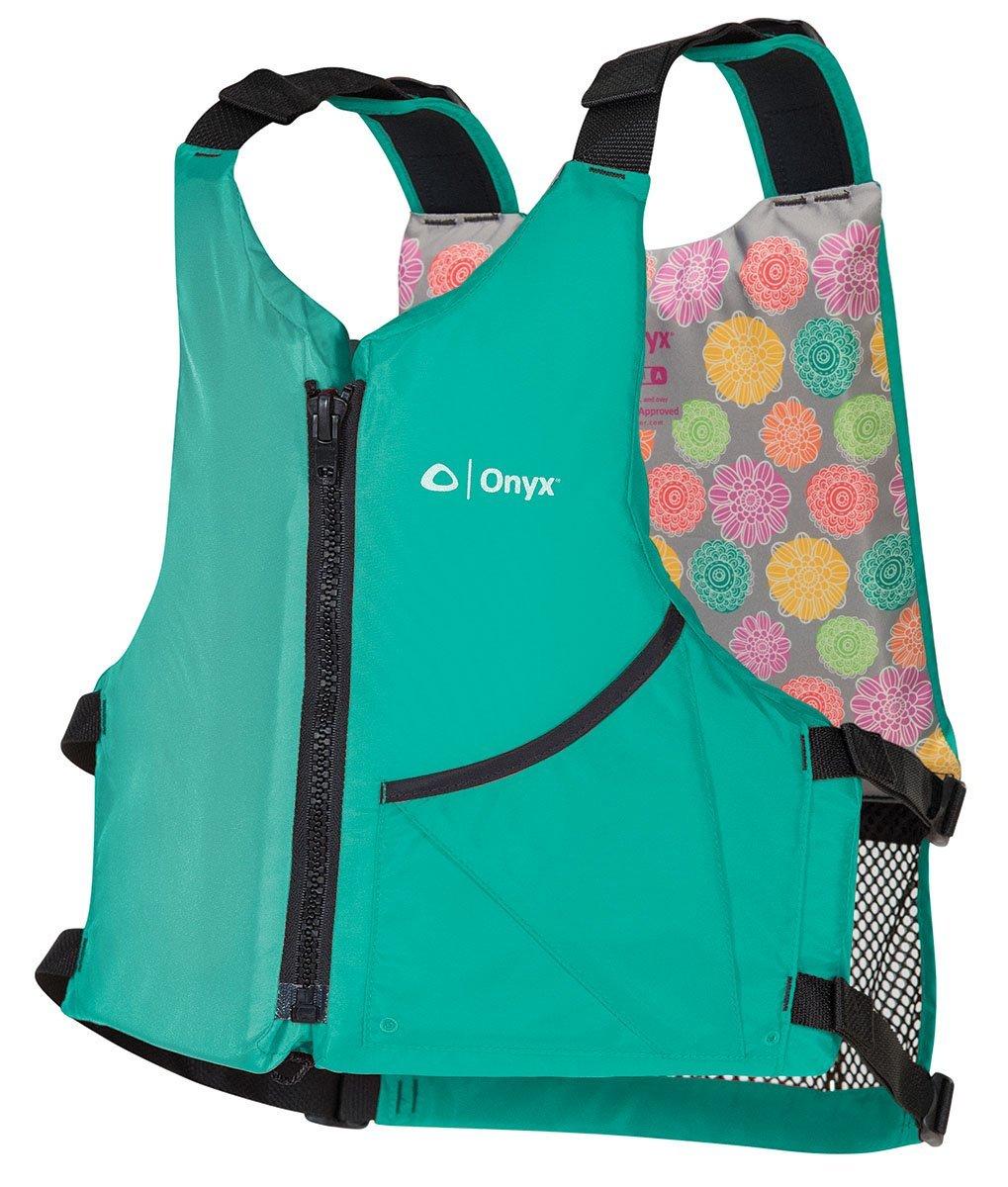 Onyx Unversal Paddle Kayak Life Vest, Aqua, Oversize by Onyx