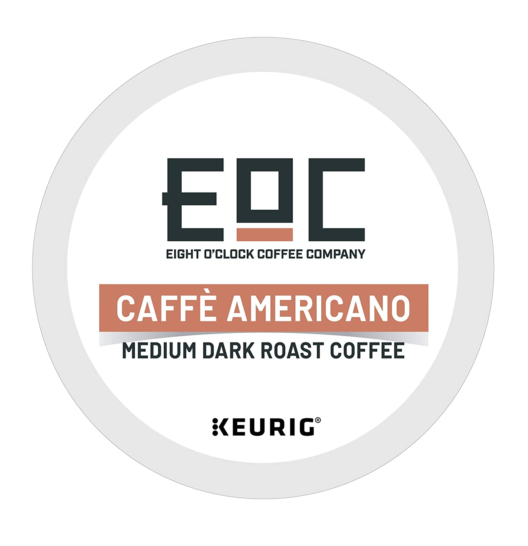 Eight O'Clock Coffee Barista Blends, Caffé Americano, Single-Serve Keurig K-Cup Pods, Medium Dark Roast Coffee, 60 Count