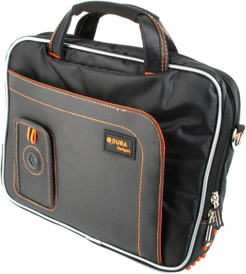 DURAGADGET Black & Orange Protective Carry Bag - Compatible with Acer Iconia Tab A200 | Iconia Tab A210 & Iconia Tab A700