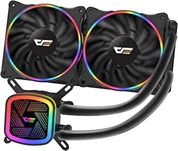 darkFlash DT240 240mm Water Liquid Cooling AIO Cooler Radiator with 120mm LED Rainbow Lighting Case Fan CPU Cooler (DT240 (Rainbow))