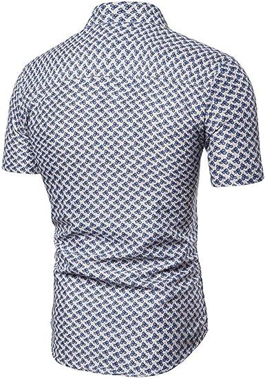 Camisa De Manga Corta con Estampado De Flores, Nueva Camisa De Manga Corta con Estilo De Verano, para Hombres: Amazon.es: Ropa y accesorios