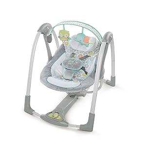 Ingenuity Swing 'n Go Portable Baby Swings, Hugs & Hoots