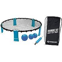 Roundnet set, complete set voor onmiddellijke start, verschillende kleuren naar keuze, incl. 3 ballen, balpomp en…
