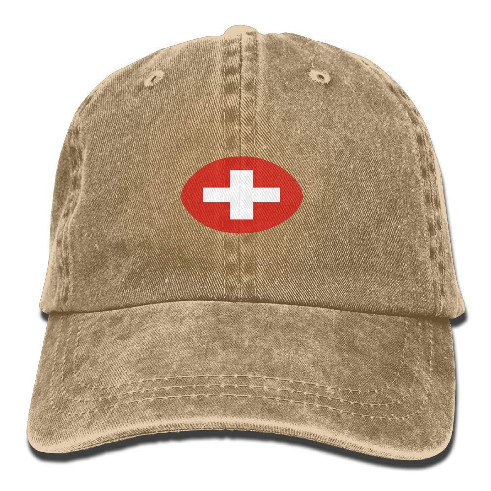 90af1fae0c6 Switzerland Flag Rugby Stylish Cowboy Hat Mesh Cap Hip Hop Cap Baseball Cap  at Amazon Men s Clothing store