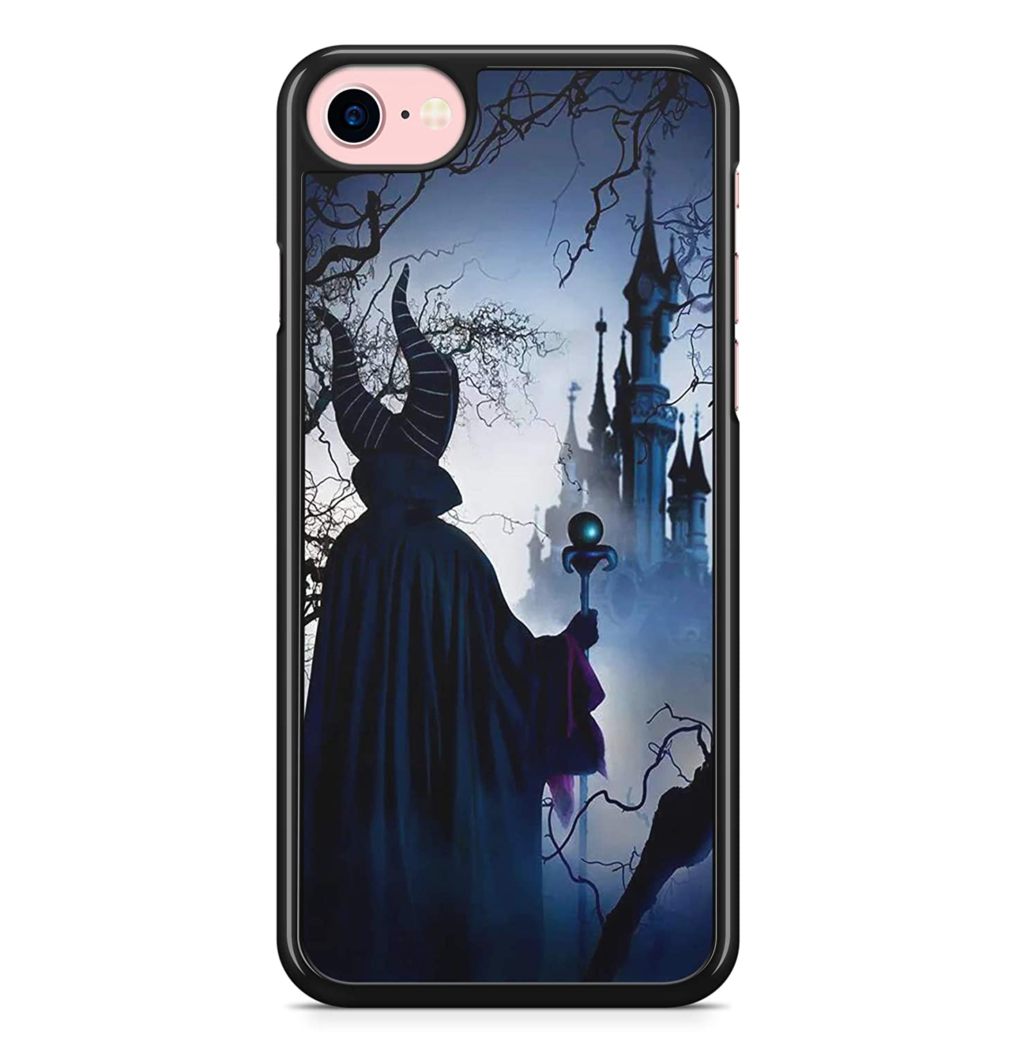 Coque iphone 4 4s 5 5s se 5c 6s plus 7 8 x xs max xr malé fique maleficent disney fanart