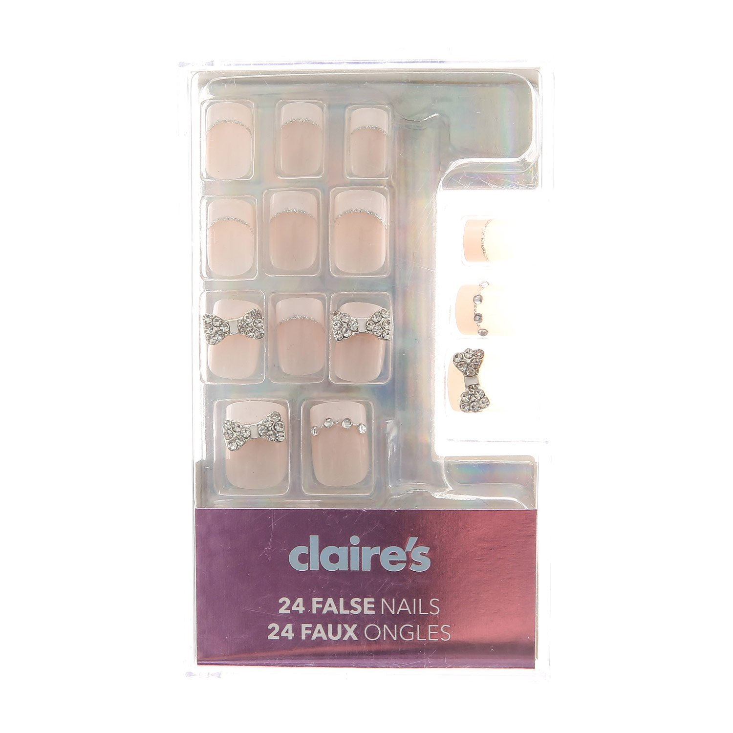 Amazon.com: Claire s y para mujer 3d Bling lazo uñas ...