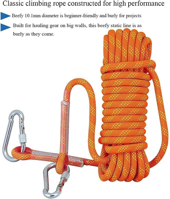 YJHH Cuerda De Seguridad 10mm 50m, Cuerda Escalada Al Aire ...