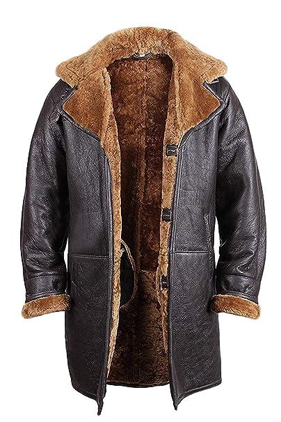 Amazon.com: Brandslock - Chaqueta de piel de oveja para ...