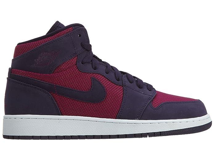 online store 4e744 82c7c Amazon.com   Jordan Air 1 Retro High Big Kids Shoes True Berry Purple  Dynasty White 332148-608 (4.5 M US)   Running