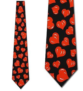 Hearts TIES Valentines Day Menu0027s Neck Tie Heart