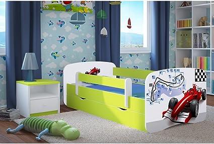 Cama infantil F1 70 cm x 140 cm con barrera de seguridad ...