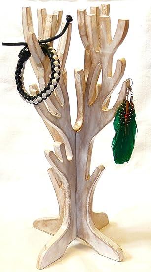 8a2e312b617f Expositor de joyas y bisutería en forma de árbol de madera artesanal ...