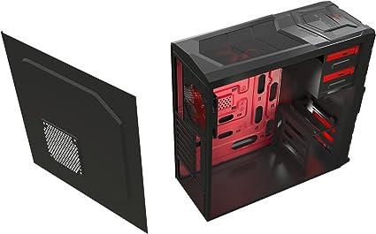 Mars Gaming MC4 - Caja de ordenador para gaming (diseñado para gamers, LED rojo, 2 ventiladores, micro ATX), negro [Alemania]: Amazon.es: Informática