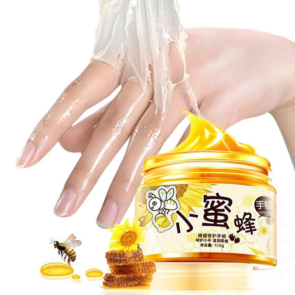 GoodPing Cáscara de la piel de la mano de la máscara de cera, cuidado de las manos la máscara de la leche de parafina, máscara de mano cuidado de exfoliante hidratante (150G) guangzhou