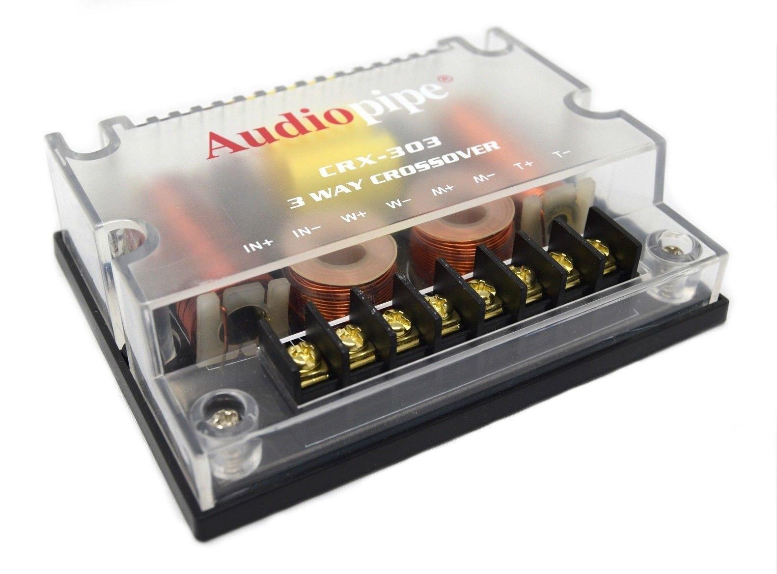 Audiopipe 3 Way Crossover CRX-303 300 Watts Passive Crossover Car Audio 4 Ohm