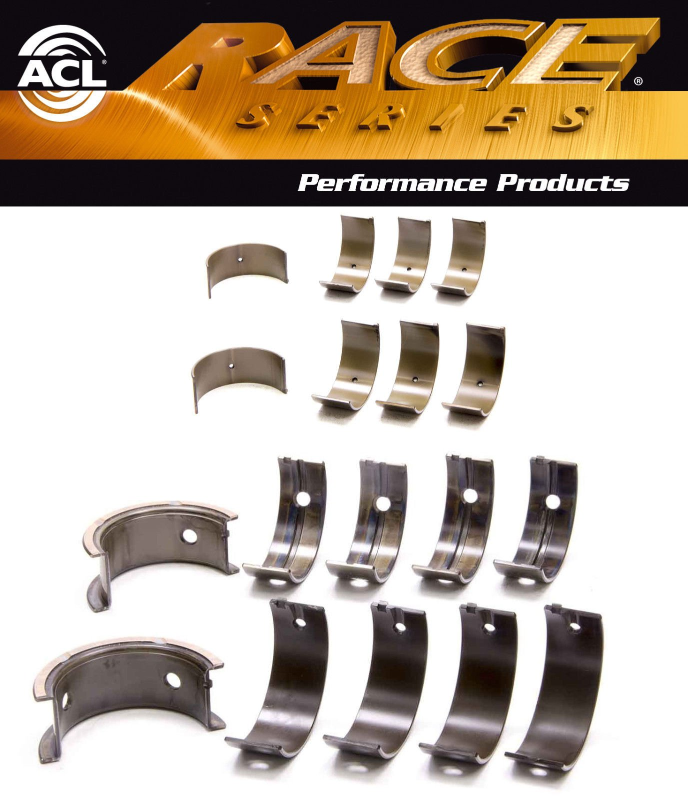 ACL Race Rod+Main Bearings for Mitsubishi 4G63 4G63T 2.0 2.4 6-bolt Up-92 STD SIZE (4G63 4G63T 2.0 2.4l)