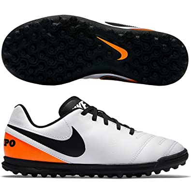 21f8cfe296bb Nike Unisex Babies' Jr Tiempox Rio III TF Football Boots, Blanco ...
