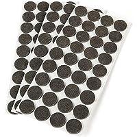 Emuca 2038016 viltglijders, rond, diameter 16 mm, zelfklevend, bruin, 150 stuks
