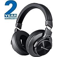 Bluetooth Kopfhörer Noise Cancelling - HiFi Stereo Drahtlose Headset Over Ear mit Mikro Lautstärkeregler für Alle Geräte mit Bluetooth oder 3,5 mm Klinkenstecker (schwarz L2)