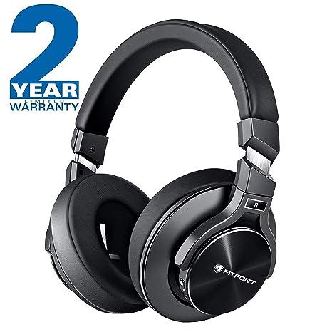 Auriculares Bluetooth - FITFORT Cascos Bluetooth Inalámbricos de Diadema, Cancelación Activa de Ruido, Plegable