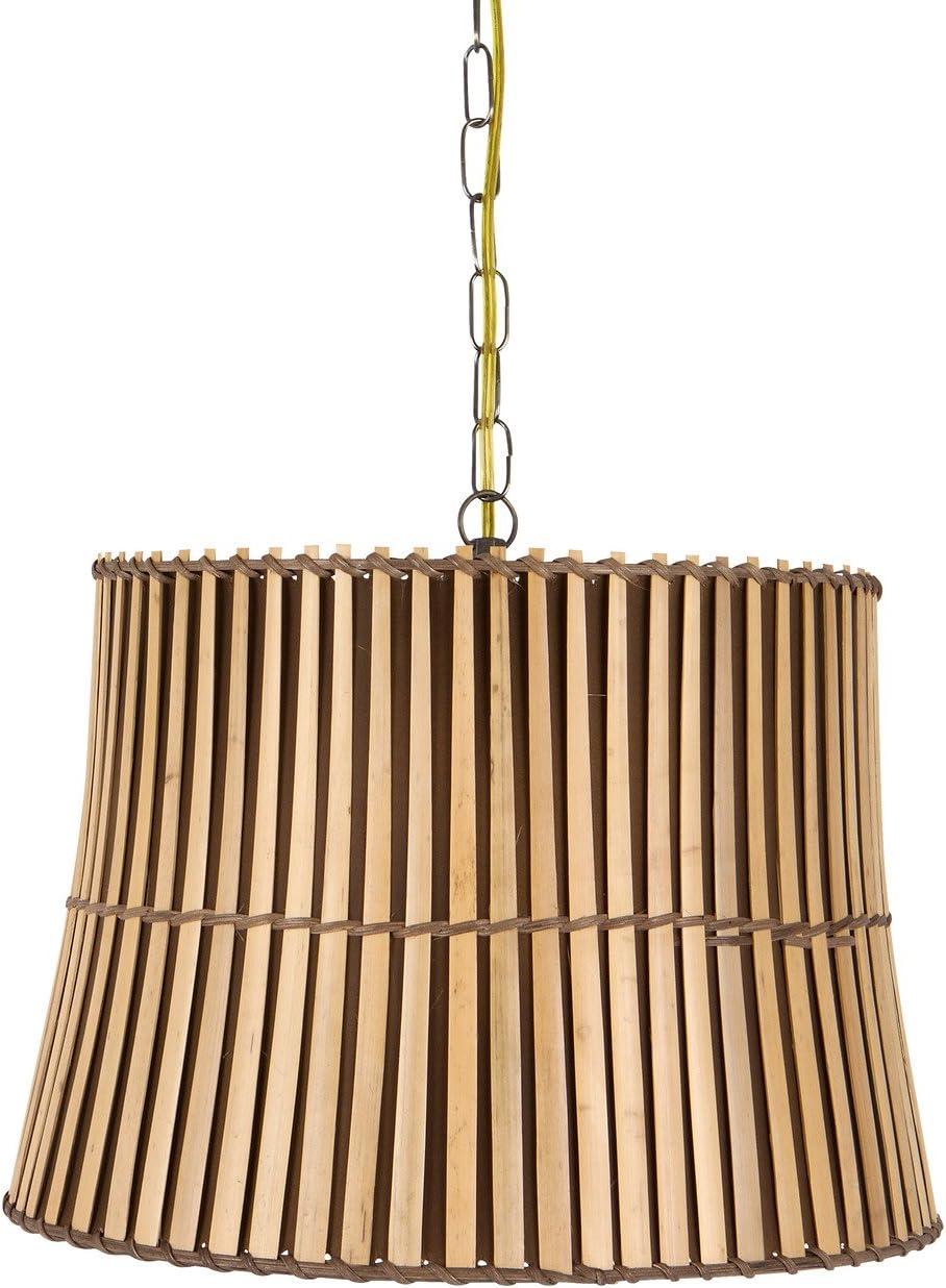 Upgradelights Bamboo Swag 16 Inch Lamp Lighting Fixture Hanging Plug-in 13x16x11