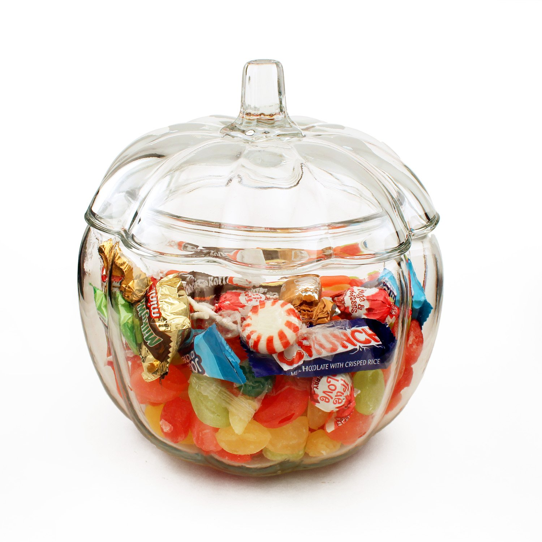 70 oz Pumpkin Jar with Cover Transparente Target Anchor Hocking 79017
