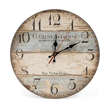 9ca4b0598bd1ed LOHAS Home 30cm Vintage Horloge Murale Rustique