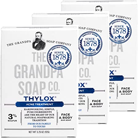 Grandpa's Thylox Acne Treatment Soap With Sulfur   3.25 Oz (3 Pack) by Grandpa's