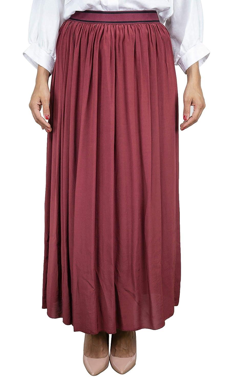 Dixie Luxury Fashion Mujer GATVDOH126 Burdeos Falda | Primavera ...