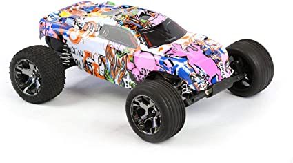TRAXXAS COMPATIBLE RUSTLER STYLE BODY SHELL BRAND NEW CONDITION  WITH DECALS